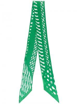 Шелковый шарф с абстрактным узором Rockins. Цвет: зелёный
