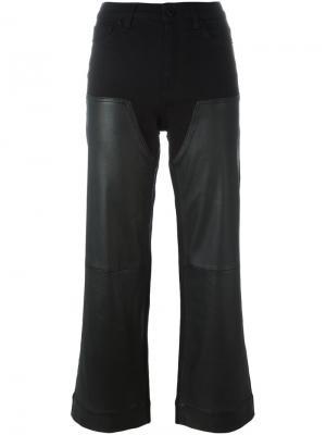 Укороченные брюки с кожаными панелями Givenchy. Цвет: чёрный