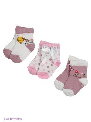 Носки для новорожденных PERA MAYA. Цвет: розовый, фиолетовый