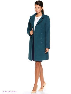 Пальто PARADOX. Цвет: темно-зеленый