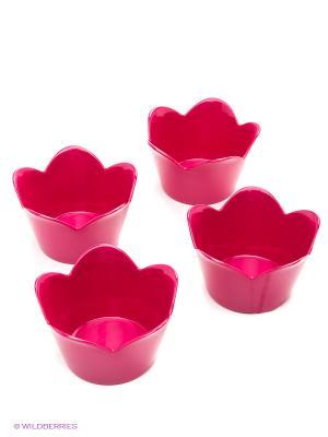 Набор мисок для десерта Zak!designs. Цвет: малиновый
