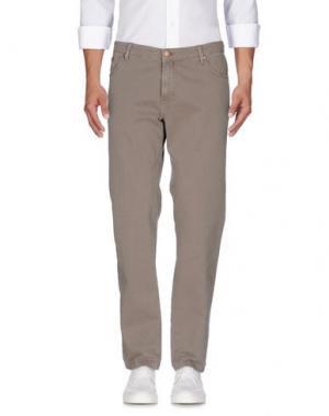 Джинсовые брюки B SETTECENTO. Цвет: хаки