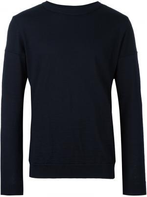 Джемпер с круглым вырезом Intro S.N.S. Herning. Цвет: синий