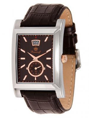 Часы наручные Romanoff. Цвет: темно-коричневый, золотистый, серебристый