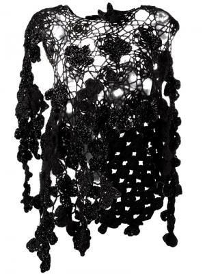 Вязаная накидка Flora Simone Rocha. Цвет: чёрный