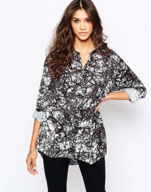 AKA Рубашка с принтом Scenic. Цвет: черный