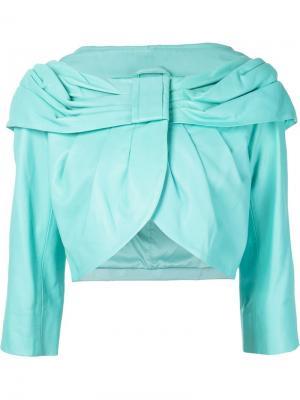 Пиджак с драпированным воротником Boutique Moschino. Цвет: синий