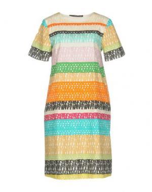Короткое платье MAURIZIO PECORARO. Цвет: оранжевый