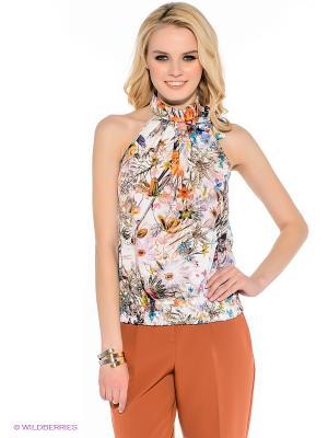 Блузка F5. Цвет: молочный, оранжевый, зеленый