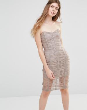 Body Frock Присборенное платье‑бандо Wedding Forget Me Not. Цвет: коричневый