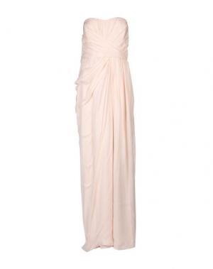 Длинное платье BADGLEY MISCHKA. Цвет: светло-розовый