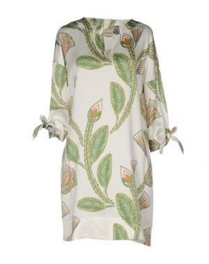 Короткое платье SHIRTAPORTER. Цвет: зеленый