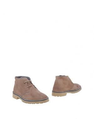 Полусапоги и высокие ботинки LE CROWN. Цвет: голубиный серый