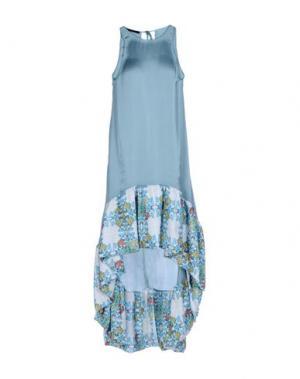 Платье до колена TENAX. Цвет: небесно-голубой