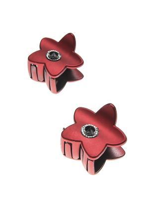 Заколка-краб (2 шт.) Happy Charms Family. Цвет: красный, черный