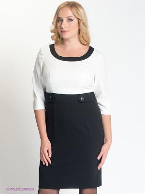Платье Capriz. Цвет: черный, белый