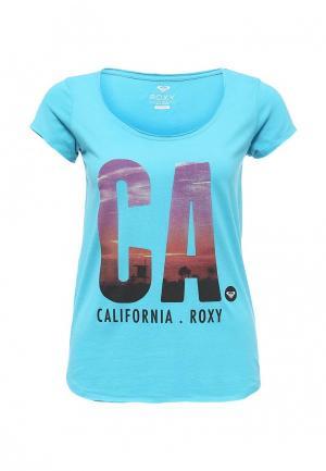 Футболка Roxy. Цвет: голубой
