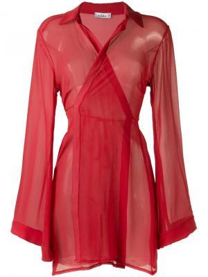 Платье с прозрачными панелями Amir Slama. Цвет: красный