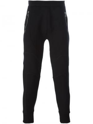 Спортивные брюки в байкерском стиле Neil Barrett. Цвет: чёрный