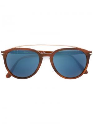 Солнцезащитные очки  с массивной оправой Persol. Цвет: жёлтый и оранжевый