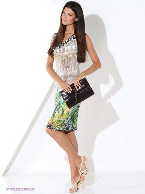 Платье Ana Alcazar. Цвет: зеленый, бежевый
