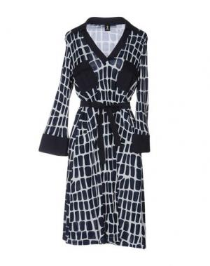 Платье до колена 1-ONE. Цвет: темно-синий