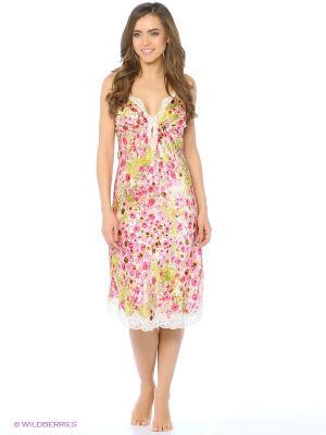 Ночная сорочка Del Fiore. Цвет: бледно-розовый, кремовый