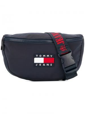 Поясная сумка в стиле 90-х Tommy Jeans. Цвет: синий