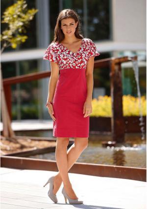 Платье MY STYLE. Цвет: красный с рисунком