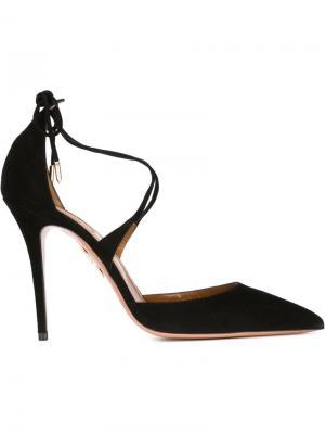 Туфли на шпильке Matilde Aquazzura. Цвет: чёрный
