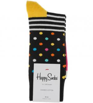 Носки из хлопка Happy Socks. Цвет: черный