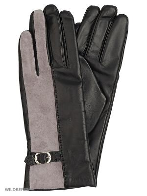 Перчатки женские с эффектом Touch Screen Marco Bonne`. Цвет: черный, светло-серый