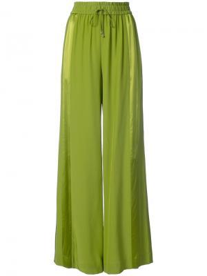 Пижамные брюки с панельным дизайном Prabal Gurung. Цвет: зелёный