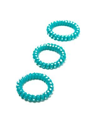 Резинка-браслет для волос Mitya Veselkov. Цвет: голубой, белый
