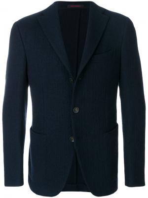 Пиджак с застежкой на три пуговицы The Gigi. Цвет: синий