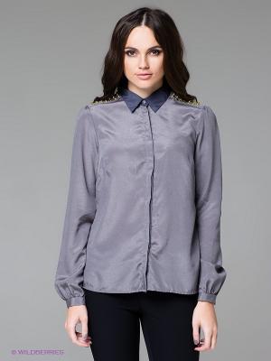 Блузка SILVIAN HEACH. Цвет: темно-серый