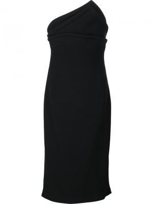 Платье без бретелек с треугольным лифом Brandon Maxwell. Цвет: чёрный