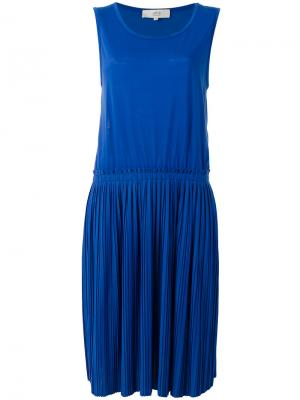 Платье с плиссировками Vanessa Bruno Athé. Цвет: синий