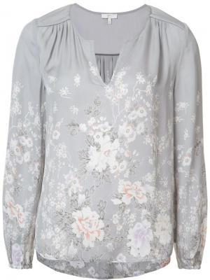Блузка с цветочным принтом Joie. Цвет: серый