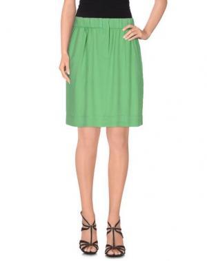 Юбка до колена NICE THINGS BY PALOMA S.. Цвет: светло-зеленый