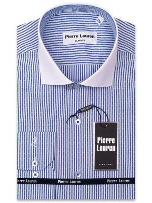 Рубашка Pierre Lauren. Цвет: синий