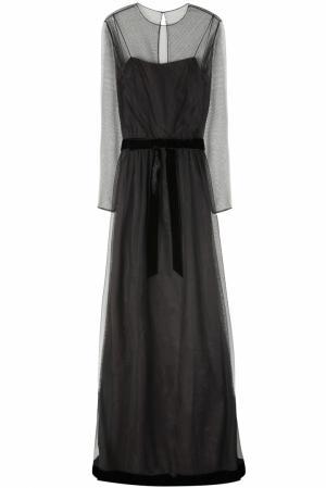 Шелковое платье (60-е) Malcolm Starr Vintage. Цвет: черный