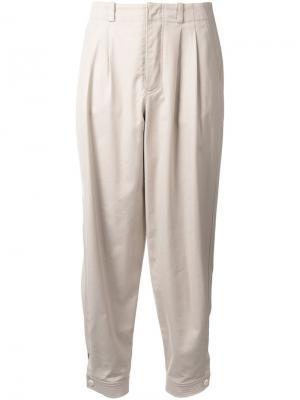 Плиссированные брюки Nehera. Цвет: коричневый
