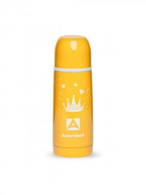 Термос с узким горлом классический, Цветной, 350 мл, Арктика. Цвет: желтый, белый