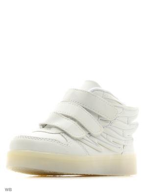 Светящиеся кроссовки Kids Wings LedShoes. Цвет: белый