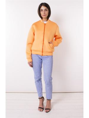 Бомбер LIGIO. Цвет: оранжевый