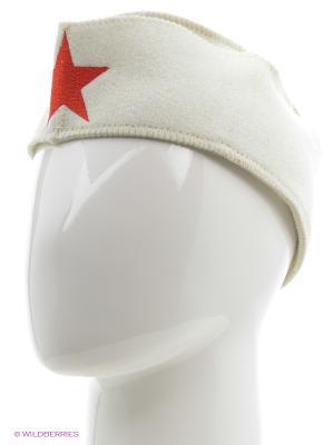 Шапка для бани пилотка Метиз. Цвет: белый