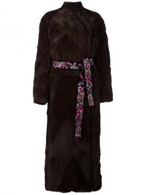 Пальто Verischka Attico. Цвет: коричневый
