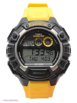 Часы TIMEX. Цвет: черный, желтый