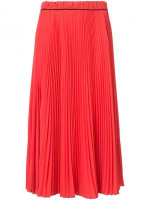 Плиссированная юбка миди Marc Jacobs. Цвет: красный